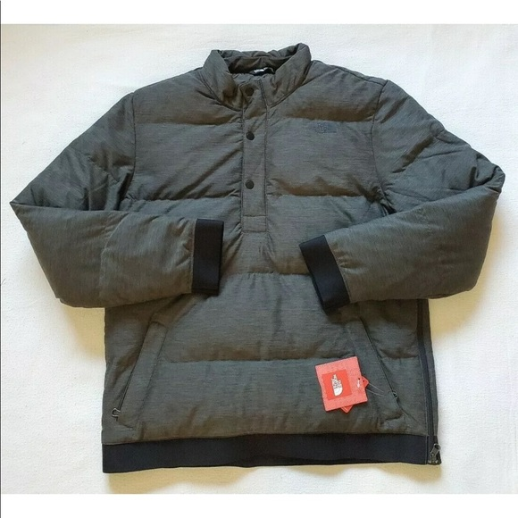 The North Face MEN's Eros 550 Down Pullover Jacket size L $149 Black Heather